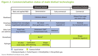 Different biofuels and their stages of development