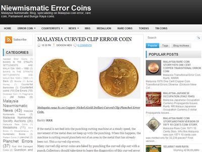Error Coins Blog