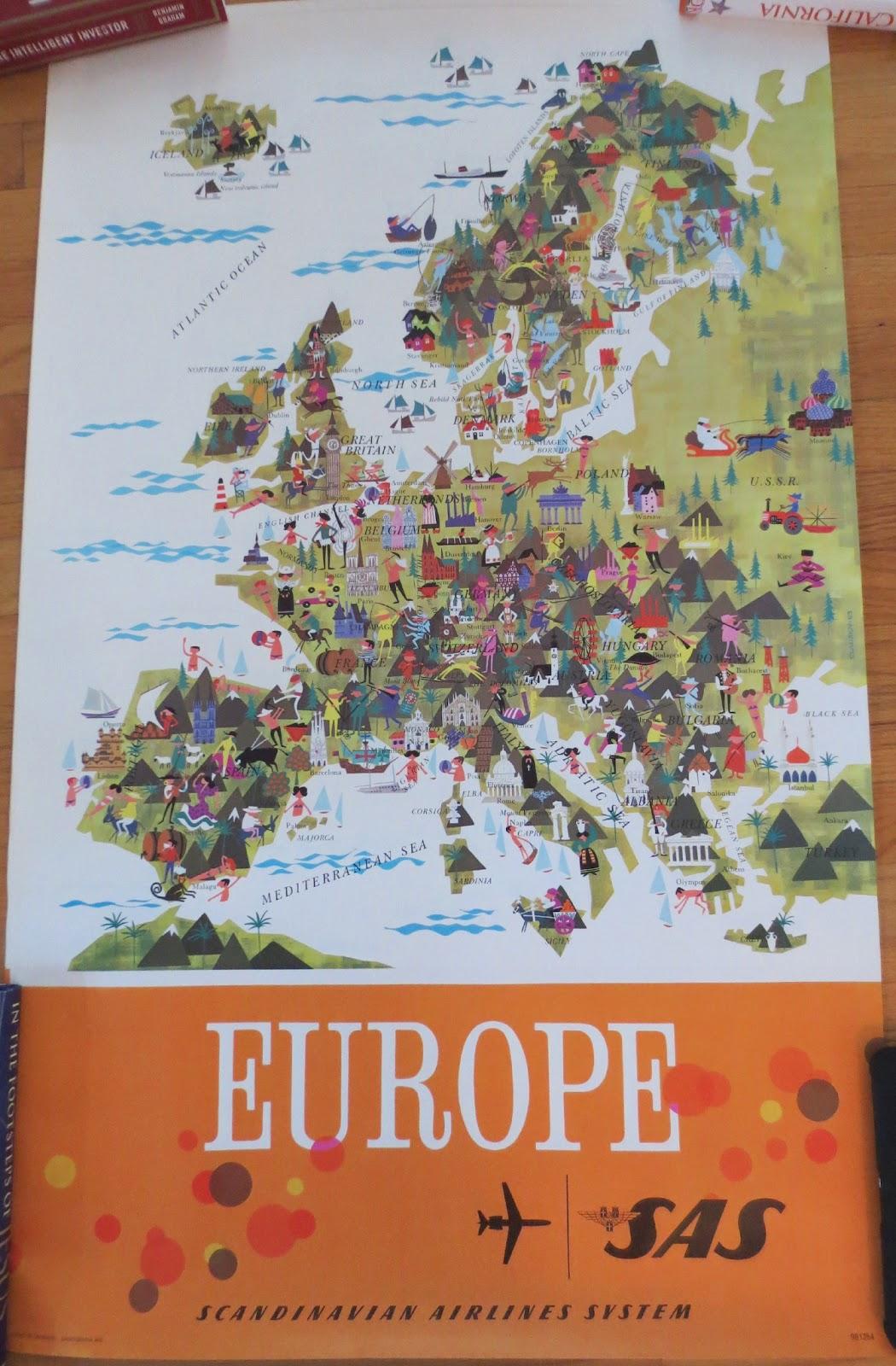 sas europe map 24x38 inches 1 original