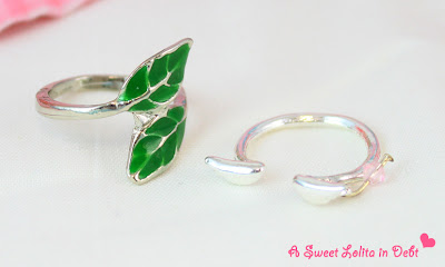 leaf ring, silver leaf ring, wings ring, silver wings ring,
