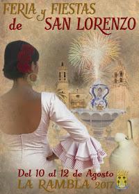 Cartel de la Feria y Fiestas de San Lorenzo de La Rambla 2017