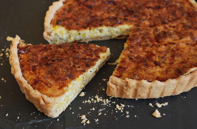 recette tarte poireau fromage bleu
