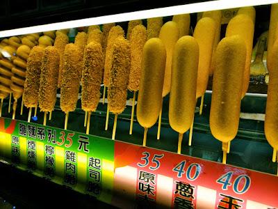 Sausages Stall at Liuhe Night Market Kaohsiung Taiwan