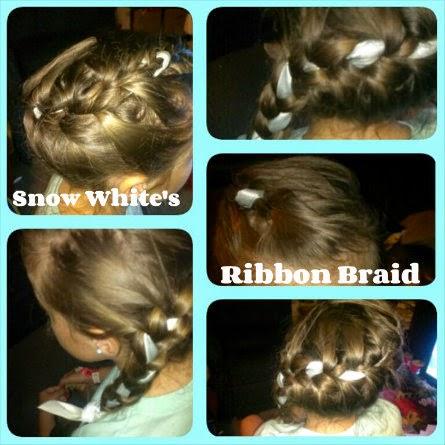 Disney Princess Hairstyles  snow white ribbon braid