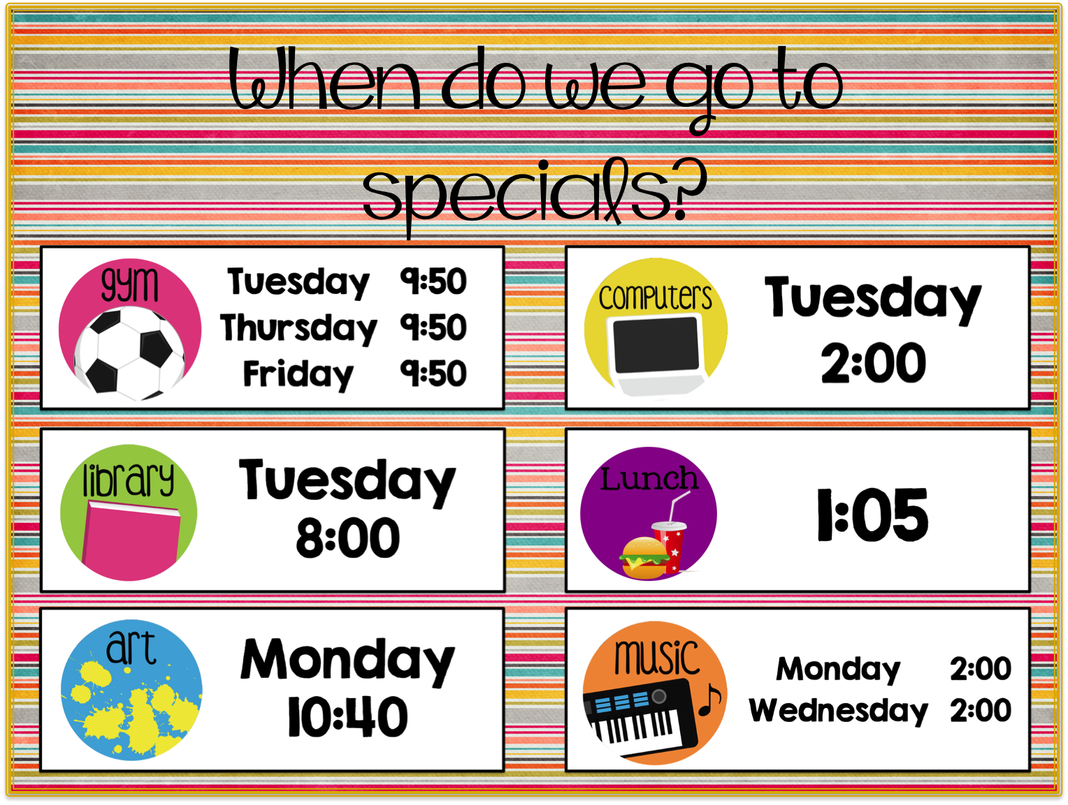 Simply 2nd Resources: Back to School Schedule Linky Party!