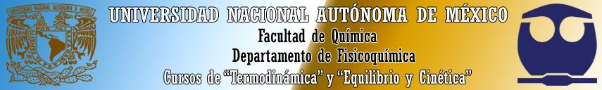 """CURSOS DE """"TERMODINÁMICA"""" Y """"EQUILIBRIO Y CINÉTICA"""""""