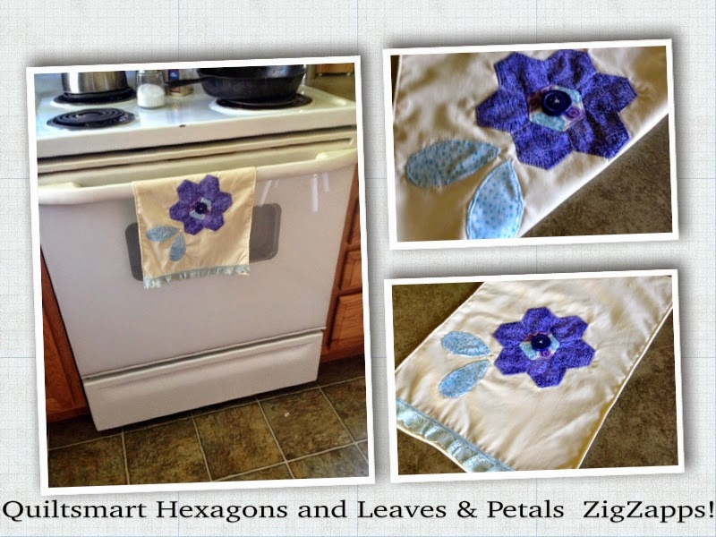 Quiltsmart ZigZapps! Hexagons and Leaves and Petals