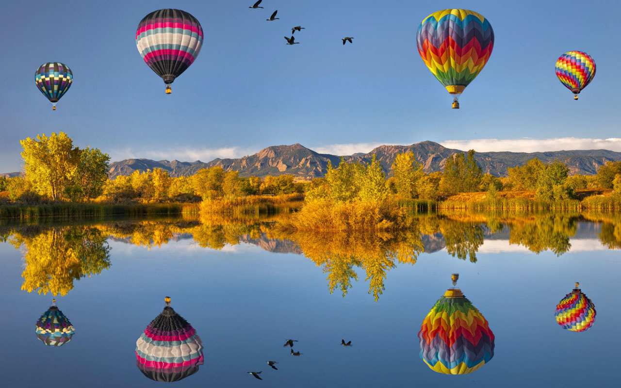Hot Air Balloon Nature