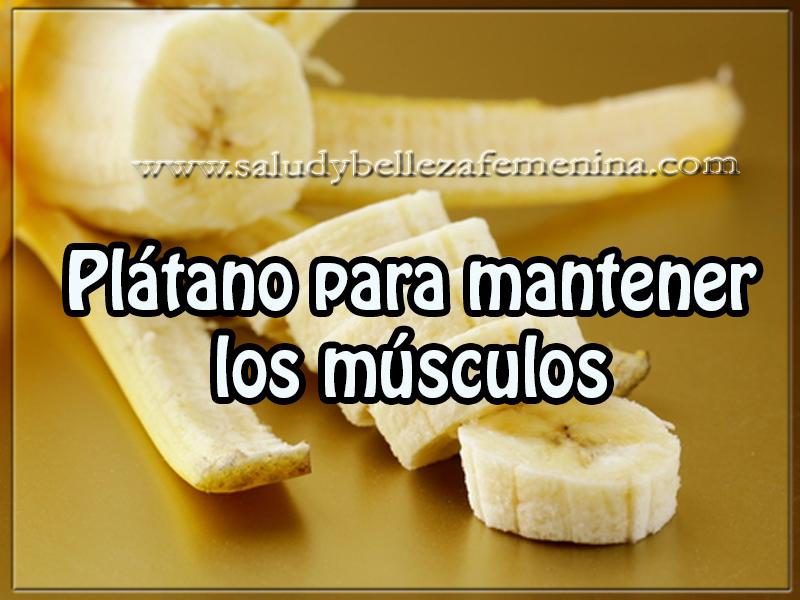 Salud y bienestar , plátano para mantener los músculos