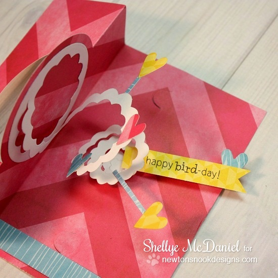 Spiral Flamingo Card by Shellye McDaniel | Newton's Nook Designs | Flirty Flamingos Stamp set