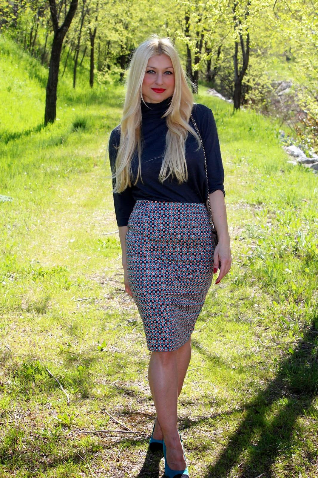 falda de tubo/ pencil skirt