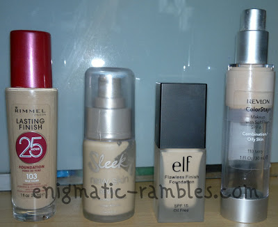 foundations-rimmel-lasting-finish-25-hours-sleek-new-skin-revive-elf-flawless-finish-revlon-colorstay
