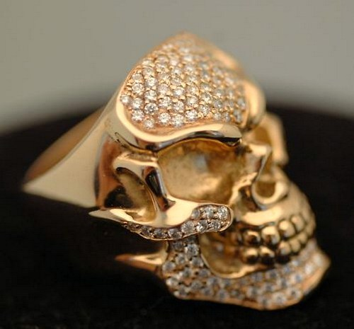 biker jewelry and leather ezine gold skull rings