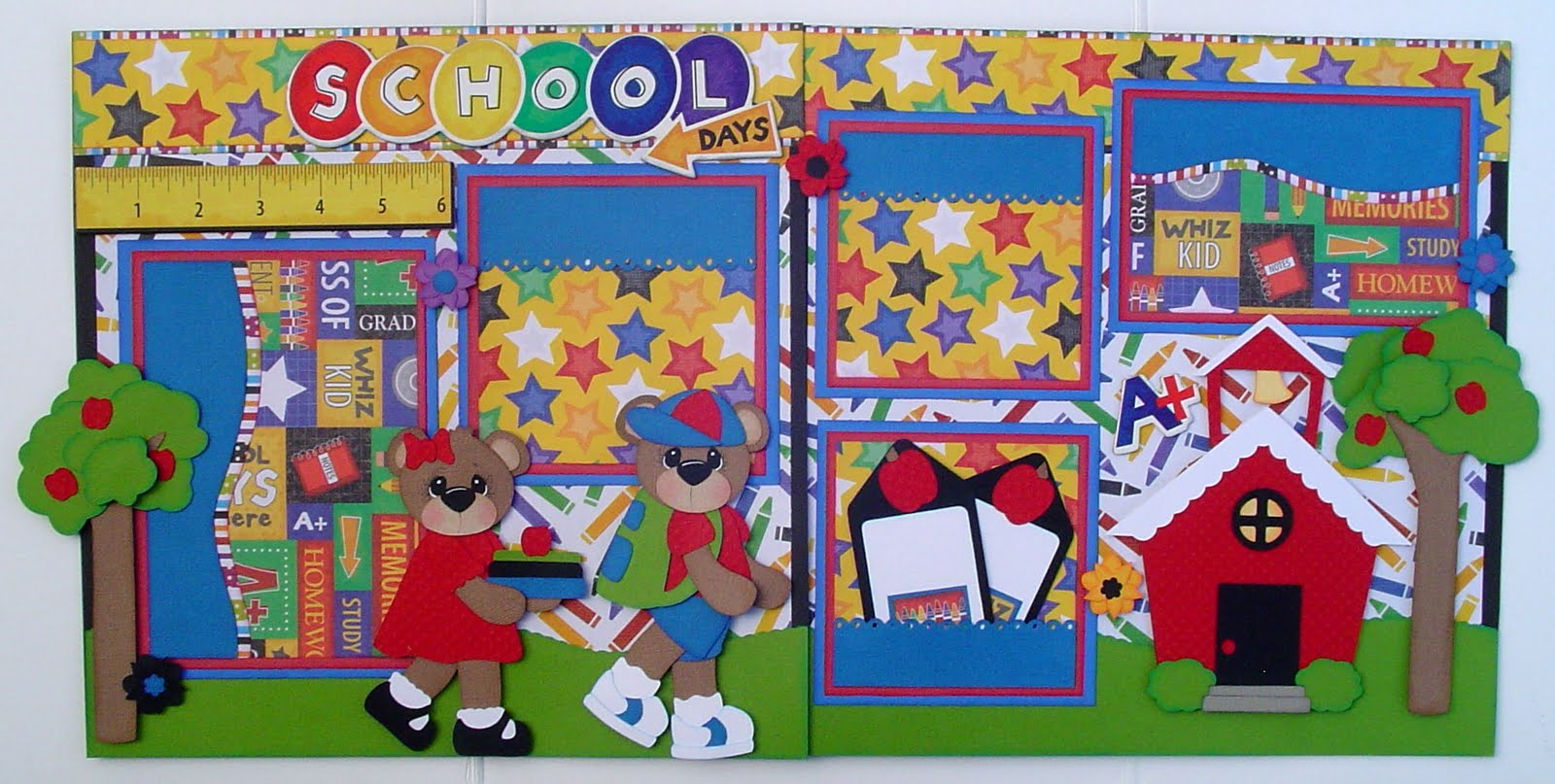 How to make scrapbook for school project - Precious In His Sight And School Days