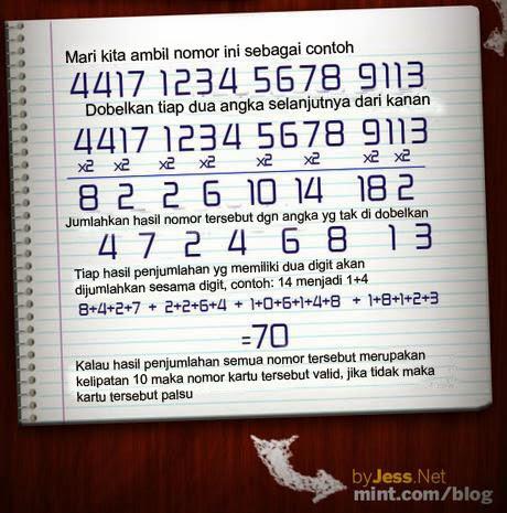 cara mengecek kartu kredit asli atau palsu
