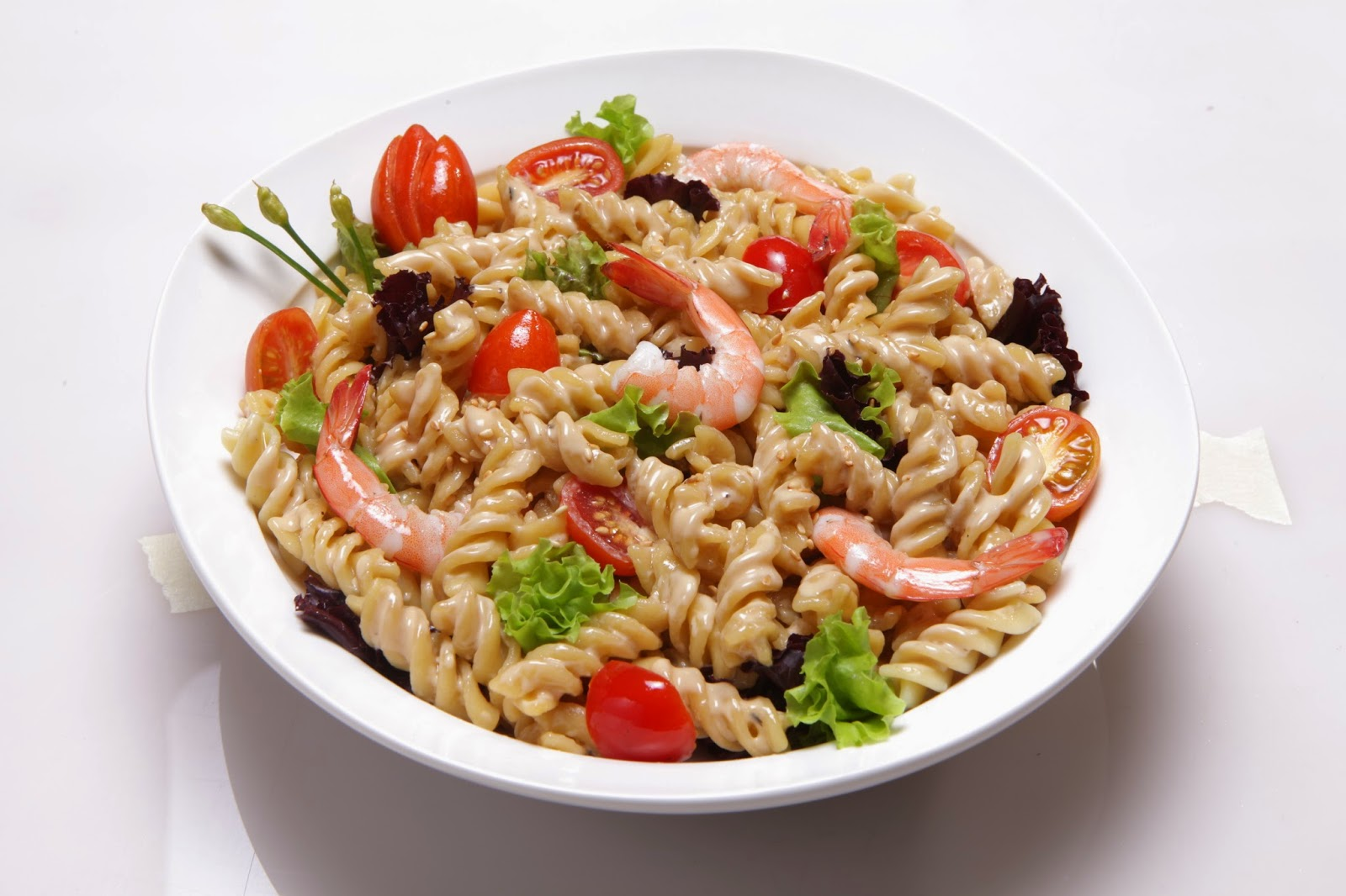 Shrimp and Pasta Salad with Creamy Sesame Dressing