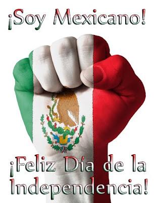 ¡Soy Mexicano! - Feliz Día de la Independencia - Símbolos Patrios de México - Puño cerrado con bandera