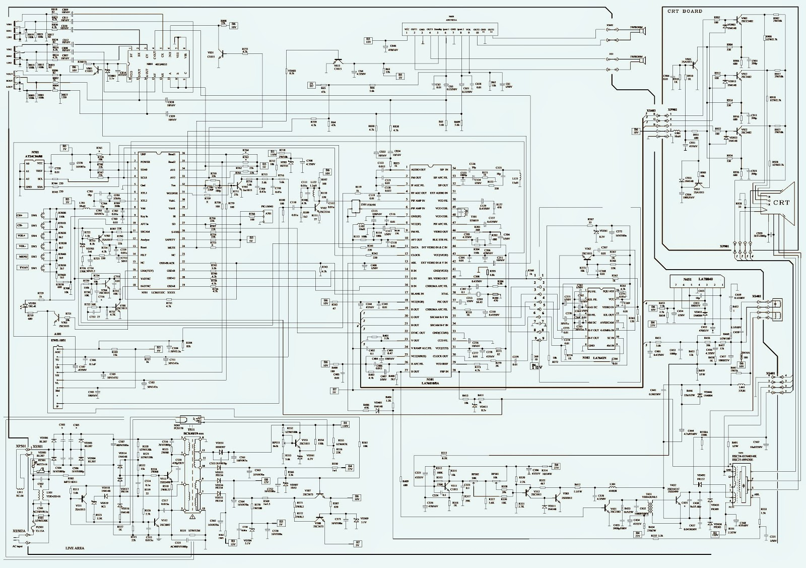 Chinese Color Tv Kit Service Help La76810 Lc863532c Electro Bling Switch Wiring Diagram Click On The Schematic To Zoom In