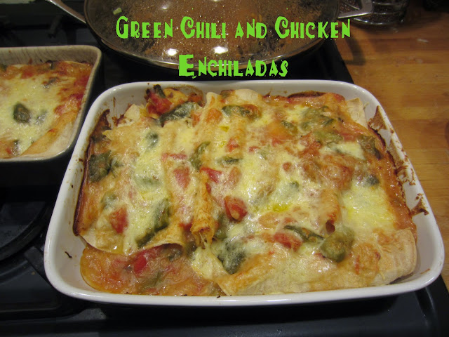 green chilli chicken enchiladas