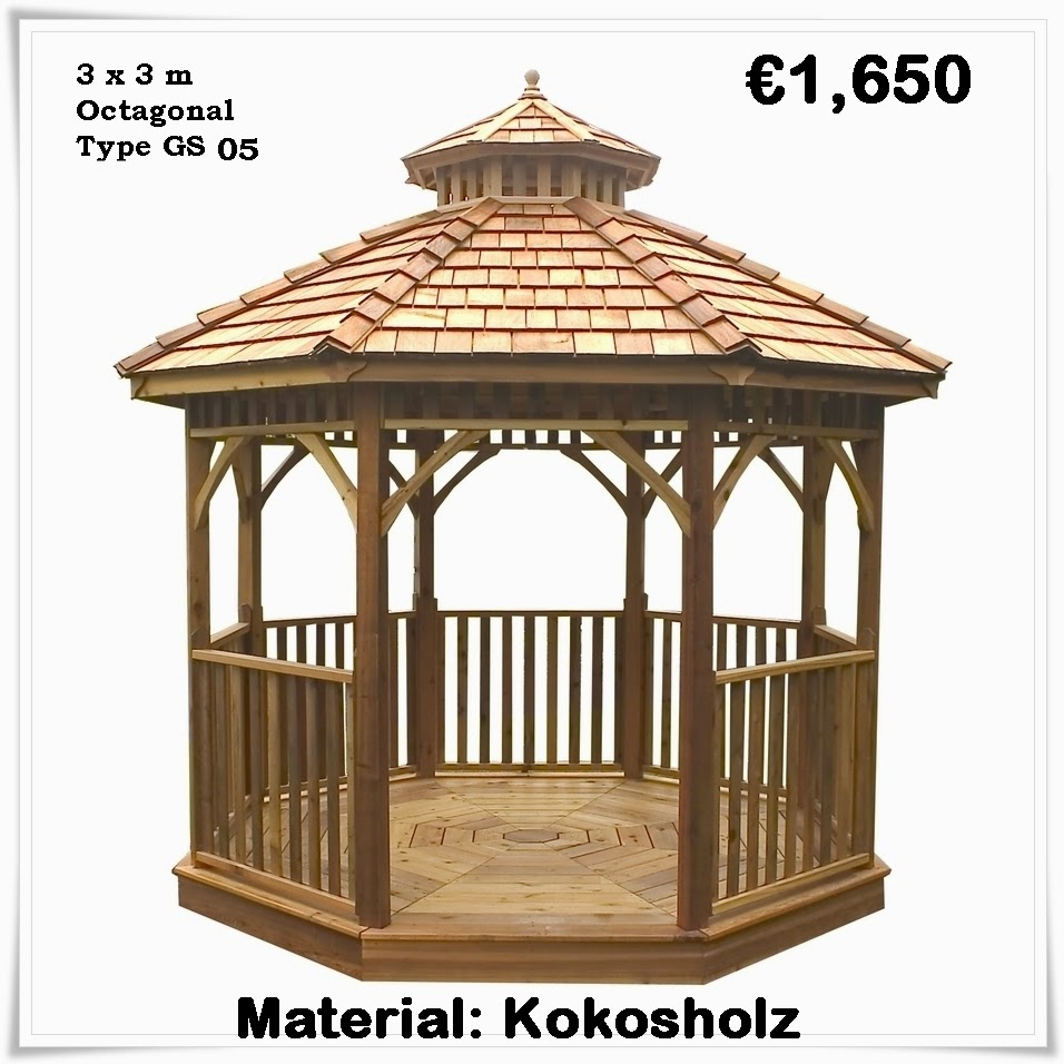 holzpavillon g nstig kaufen gartenlaube gartenpavillon. Black Bedroom Furniture Sets. Home Design Ideas