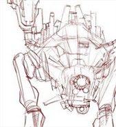 Dibujo conceptual de un Robot