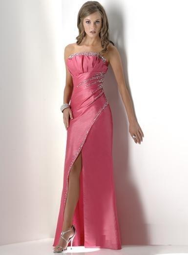 Modèle robe de soirée sido : rose fendue