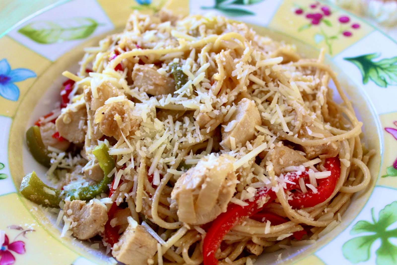 my nutritious dish: chicken scampi