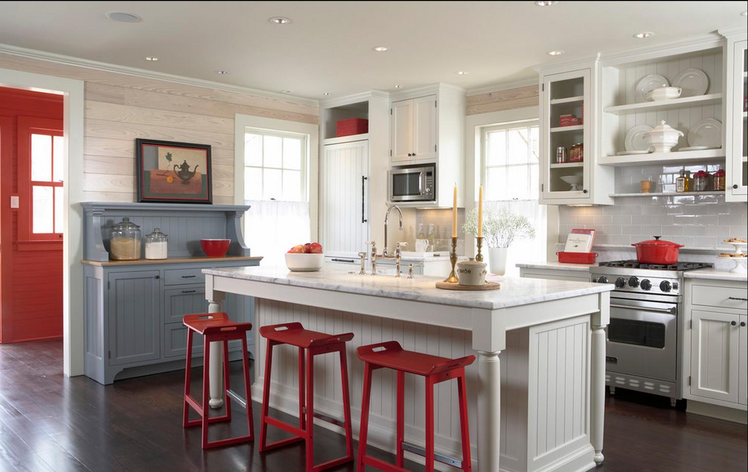 red kitchens great home design
