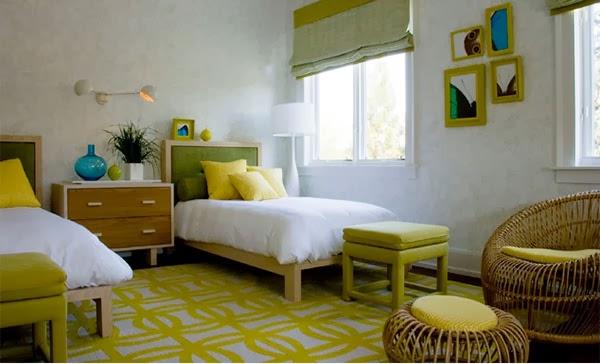 kamar tidur bernuansa warna hijau di atas bisa memberikan inspirasi