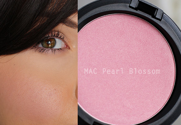 MAC Pearl Blossom Beauty Powder swatch
