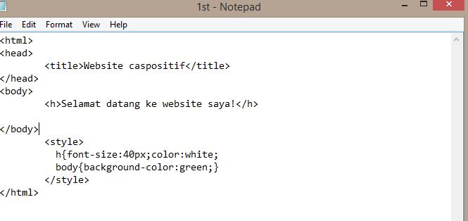 Tutorial 2 Buat website guna notepad