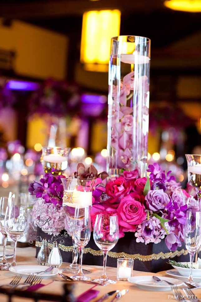 25 stunning wedding centerpieces part 2 belle the magazine for Floral arrangements for wedding reception centerpieces