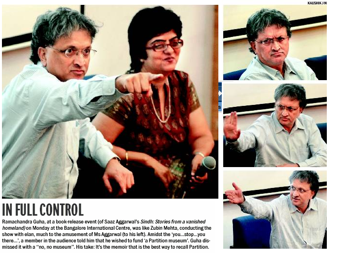 Bangalore launch by Ramachandra Guha