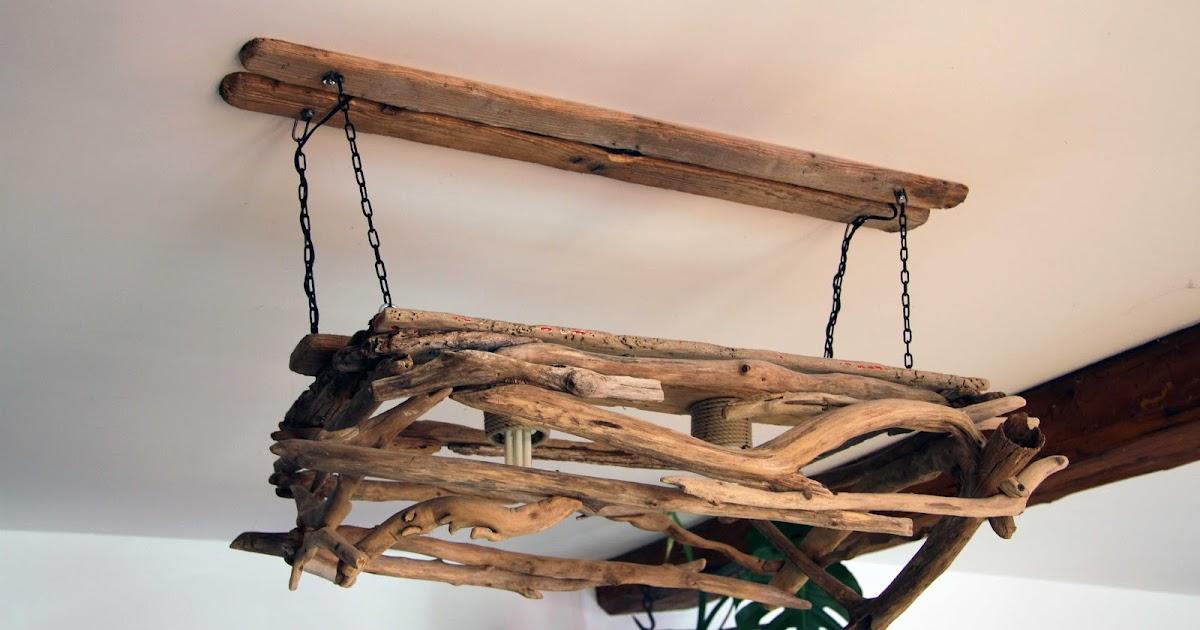 bois flott bricolage recup recyclage deco marine le blog de recup o bois flott lustre. Black Bedroom Furniture Sets. Home Design Ideas