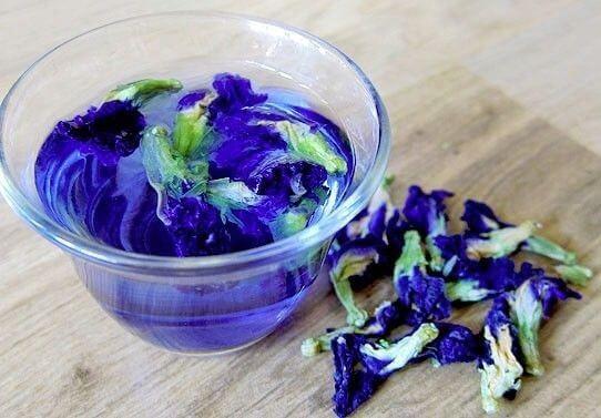 голубой чай из тайланда