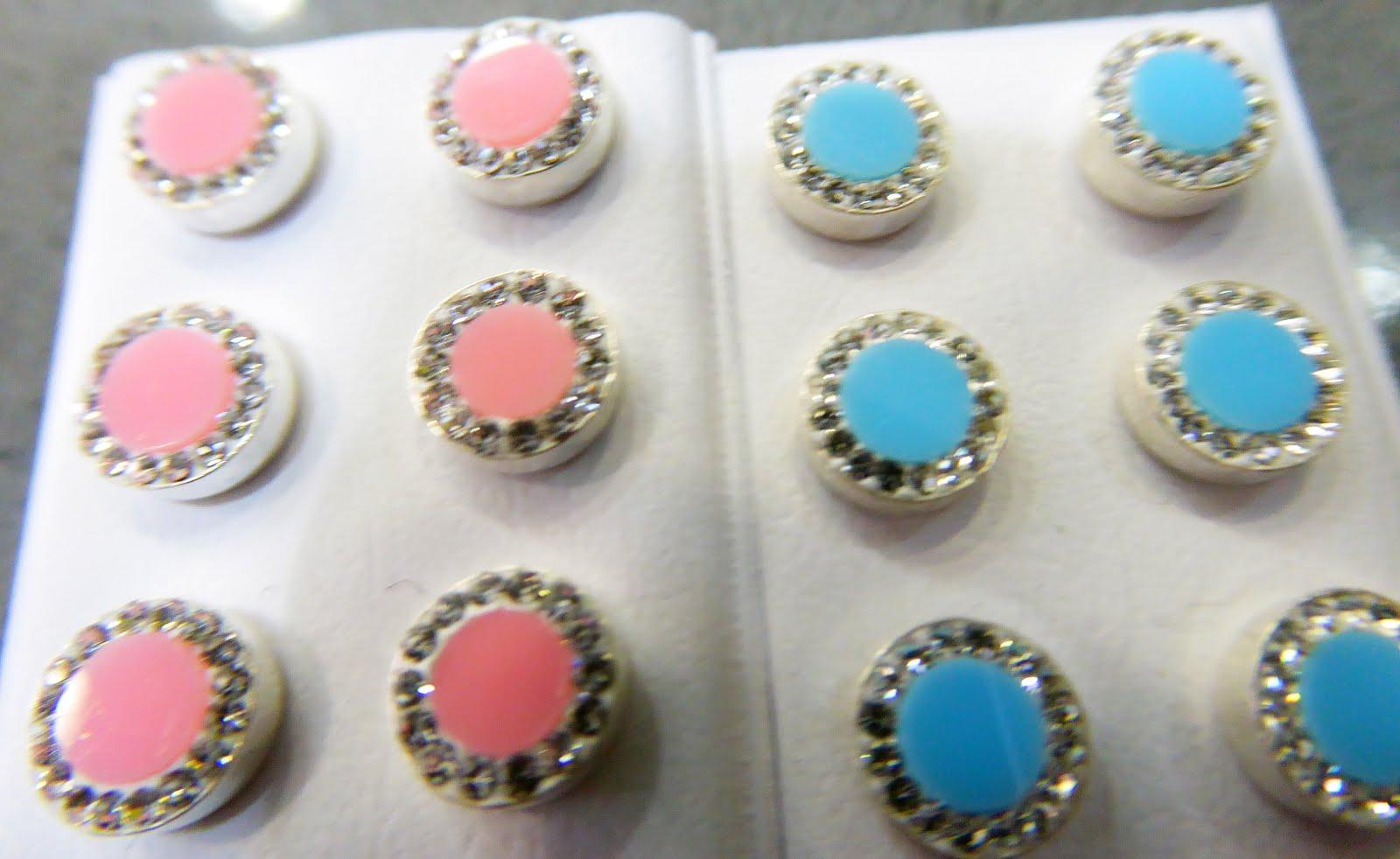 Pendientes plata con circonitas y piedras de colores