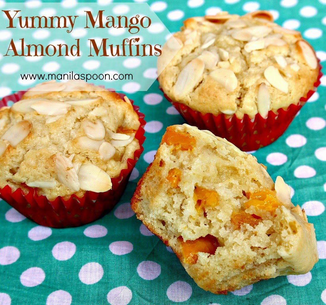 Moist and scrumptious MANGO ALMOND MUFFINS! I have made these a few ...