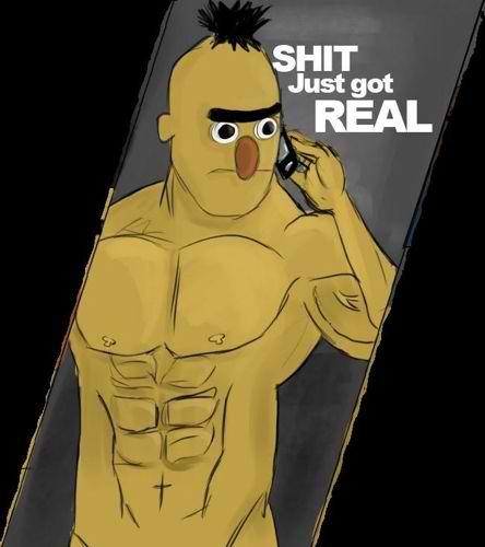 Bert Angry Gif