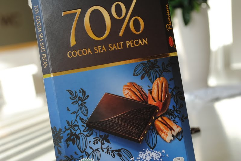 mörk choklad med havssalt