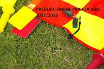 PREGLED IZMENE PRAVILA IGRE 2017/2018