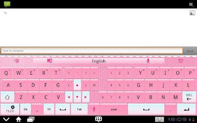 GO KEYBOARD ON LENOVO A390 SMARTPHONE