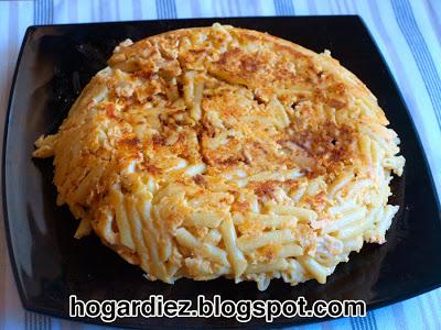 Tortilla de macarrones