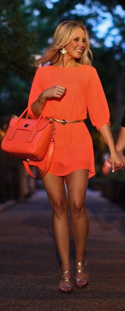 Looks em cor de laranja - look do dia. fashion look,
