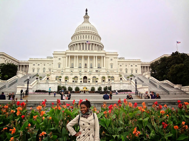 GlamorousGia in front of the US Capitol.