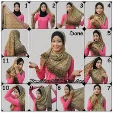 cara berhijab, tutorial hijab, tutorial berhijab, cara menggunakan hijab