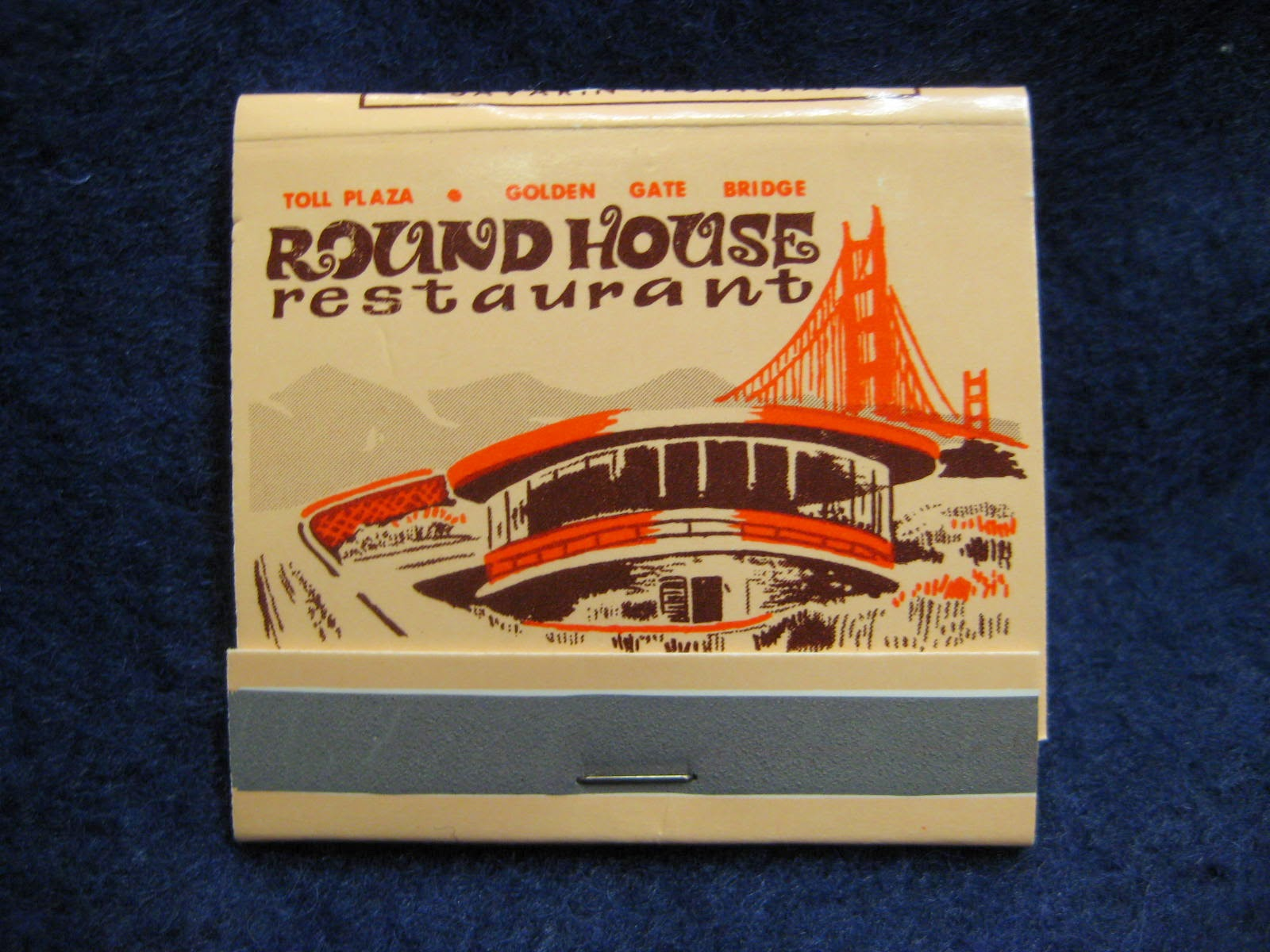 Matchbook from Roundhouse Restaurant, San Francisco History Center, San Francisco Public Library