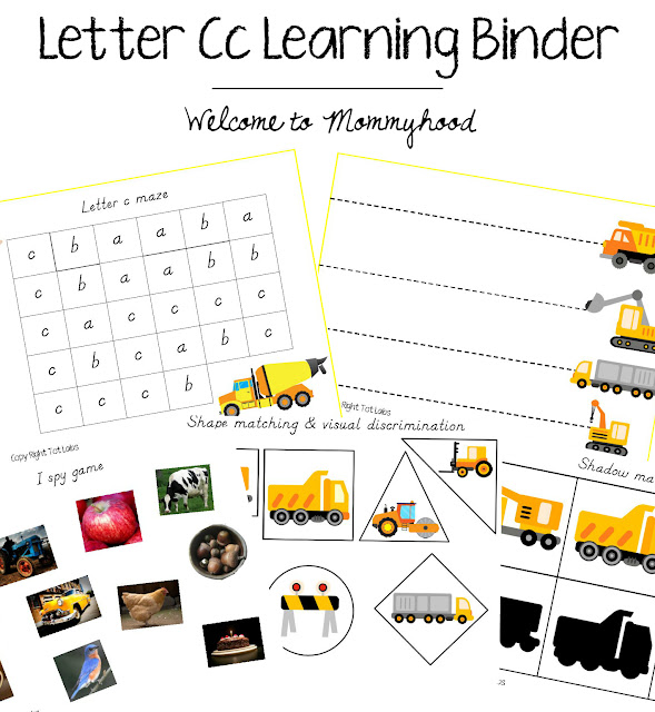 Tot Labs presents hands on letter C activities for toddlers and preschoolers by Welcome to Mommyhood, #preschoolactivities, #montessoriactivities, #montessori, #handsonlearning, #letteroftheweek, #lotw, #freeprintables
