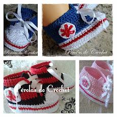Tênis em crochet