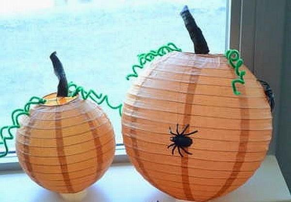 Calabazas de Papel para Halloween