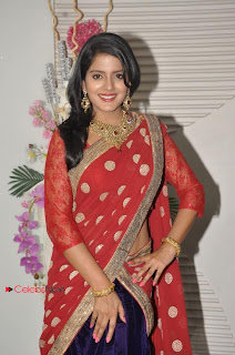 Visakha Singh Latest  Pictures in Red Half Saree  0002